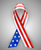 USA ribbon. Red, white, and blue USA ribbon - 3d rendering Royalty Free Stock Image
