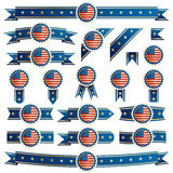 Usa ribbons Stock Image