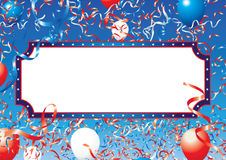 Usa ribbons and balloons panel1 Royalty Free Stock Photography