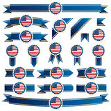 Usa ribbons Stock Photography