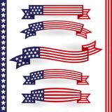 Usa Ribbons Stock Photo