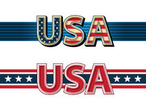 USA ribbons. Royalty Free Stock Photography