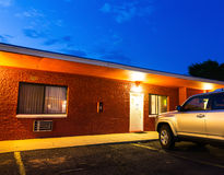 USA roadside motel in the night. Stock Photography