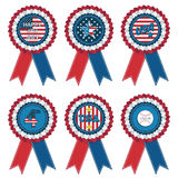 Usa rosettes Royalty Free Stock Photography