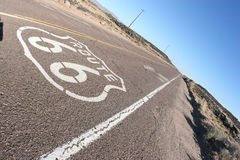 Route 66 concrete road Stock Image