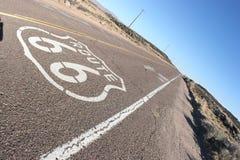 Route 66 concrete road stock image
