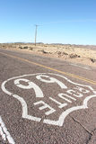 USA Route 66. Shot of american route 66 taken in the desert Stock Photos
