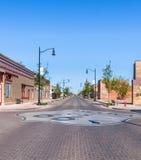 USA Route 66/Arizona 66 sköld, Winslow, AZ Arkivfoto