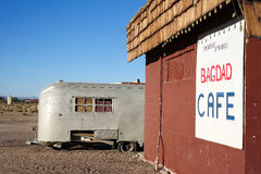 USA 4031-16 Route 66, Bagdad Cafe, Newberry Springs. NEWBERRY SPRINGS, CA, USA - MARCH 20, 2016: The famous Bagdad Cafe at Newberry Springs, Route 66, California Stock Photo