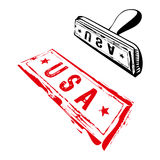 USA rubber stamp Stock Image
