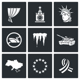 USA Russia conflict icons. Vector Illustration Royalty Free Stock Image