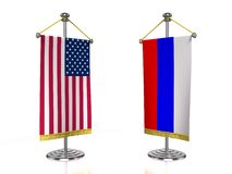 USA Russia meeting Royalty Free Stock Images