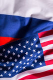 USA and Russia. Usa flag and Russia flag Stock Images