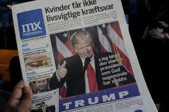 USA`S PRESIDENET ELECT DONALD TRUMP AND PRINT WORLD MEDIA. Copenhagen / Denmark_ 10th. November 2016 _ United States ` president elect Donal Trumps on cover stock images