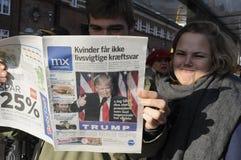 USA`S PRESIDENET ELECT DONALD TRUMP AND PRINT WORLD MEDIA. Copenhagen / Denmark_ 10th. November 2016 _ United States ` president elect Donal Trumps on cover royalty free stock photo
