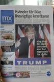 USA`S PRESIDENET ELECT DONALD TRUMP AND PRINT WORLD MEDIA. Copenhagen / Denmark_ 10th. November 2016 _ United States ` president elect Donal Trumps on cover royalty free stock photography
