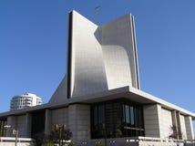 USA San Francisco, Kalifornien - Oktober 2008 Den moderiktiga byggnaden av domkyrkan av antagandet av den välsignade oskulden Mar arkivbild