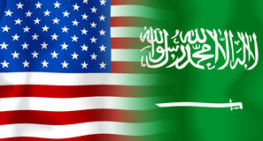 Usa-Saudi Arabia Flag Royalty Free Stock Image