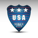USA-Schildemblem Lizenzfreies Stockfoto