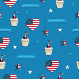 Usa seamless pattern Stock Photography