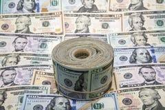 USA sedlar rulle och bakgrund Royaltyfria Foton