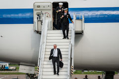 USA sekretarka obrona James Mattis przyjeżdżał w Kyiv Fotografia Stock