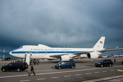 USA sekretarka obrona James Mattis przyjeżdżał w Kyiv Zdjęcie Royalty Free