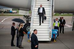 USA sekretarka obrona James Mattis przyjeżdżał w Kyiv Obrazy Stock