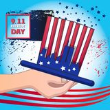 Usa september patriot day concept background, cartoon style. Usa september patriot day concept background. Cartoon illustration of usa september patriot day royalty free illustration