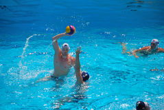 USA - SERBIA Friendly Water Polo Match Stock Image