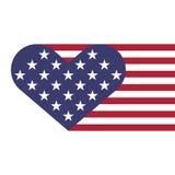 USA serc chorągwiany kształt Zdjęcia Stock