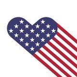 USA serc chorągwiany kształt Obrazy Royalty Free