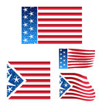 USA set of flags Royalty Free Stock Photos