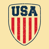 USA shield vintage stamp Royalty Free Stock Images