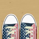 Usa shoes Stock Image
