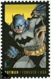 USA - 2014: shower Batman, serie den 75th årsdagen av komiker för en DC royaltyfri bild