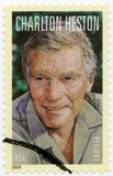 USA 2014: shower Charlton Heston (1923-2008), serielegender av Hollywood royaltyfri foto