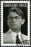 USA - 2011: shower Eldred Gregory Peck 1915-2003, skådespelare Arkivfoto