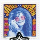 USA - 2014: shower Janis Joplin 1943-1970, spadtagsångare, seriemusiksymboler Arkivbild