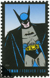 USA - 2014: shows Batman, series the 75th anniversary of a DC Comics. UNITED STATES OF AMERICA - CIRCA 2014: A stamp printed in USA shows Batman, series the 75th royalty free stock images