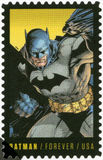 USA - 2014: shows Batman, series the 75th anniversary of a DC Comics. UNITED STATES OF AMERICA - CIRCA 2014: A stamp printed in USA shows Batman, series the 75th royalty free stock image