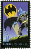 USA - 2014: shows Batman, series the 75th anniversary of a DC Comics. UNITED STATES OF AMERICA - CIRCA 2014: A stamp printed in USA shows Batman, series the 75th stock images