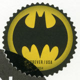 USA - 2014: shows Batman. UNITED STATES OF AMERICA - CIRCA 2014: A stamp printed in USA shows Batman, circa 2014 royalty free stock photography