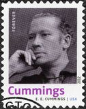 USA - 2012: Shows Edward Estlin E e Cummings 1894-1962, amerikanischer Dichter, Maler, Essayist, Autor und Stückeschreiber Lizenzfreie Stockfotografie