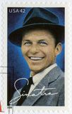 USA - 2008: shows Francis Albert Frank Sinatra 1915-1998, American singer, actor, and producer. USA - CIRCA 2008: A stamp printed in USA shows Francis Albert Stock Image
