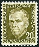 USA - 1967: shows George Catlett Marshall, Jr. (1880-1959). USA - CIRCA 1967: A stamp printed in USA shows George Catlett Marshall, Jr. (1880-1959), circa 1967 stock photo
