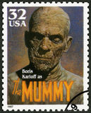 USA - 1997: shows portrait of William Henry Pratt Boris Karloff 1887-1969 as The Mummy, series Classic Movie Monsters Stock Photo