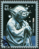 USA - 2007: shows portrait of Yoda, series Premiere of Movie Star Wars 30 anniversary
