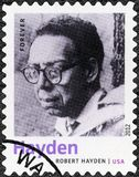 USA - 2012: shows Robert Hayden 1913-1980, American poet, essayist and educator, series Nobel Laureate in Literature. UNITED STATES OF AMERICA - CIRCA 2012: A Royalty Free Stock Photos