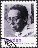 USA - 2012: Shows Robert Hayden 1913-1980, amerikanischer Dichter, Essayist und Erzieher, Reihe Nobelpreisträger in der Literatur Lizenzfreie Stockfotos